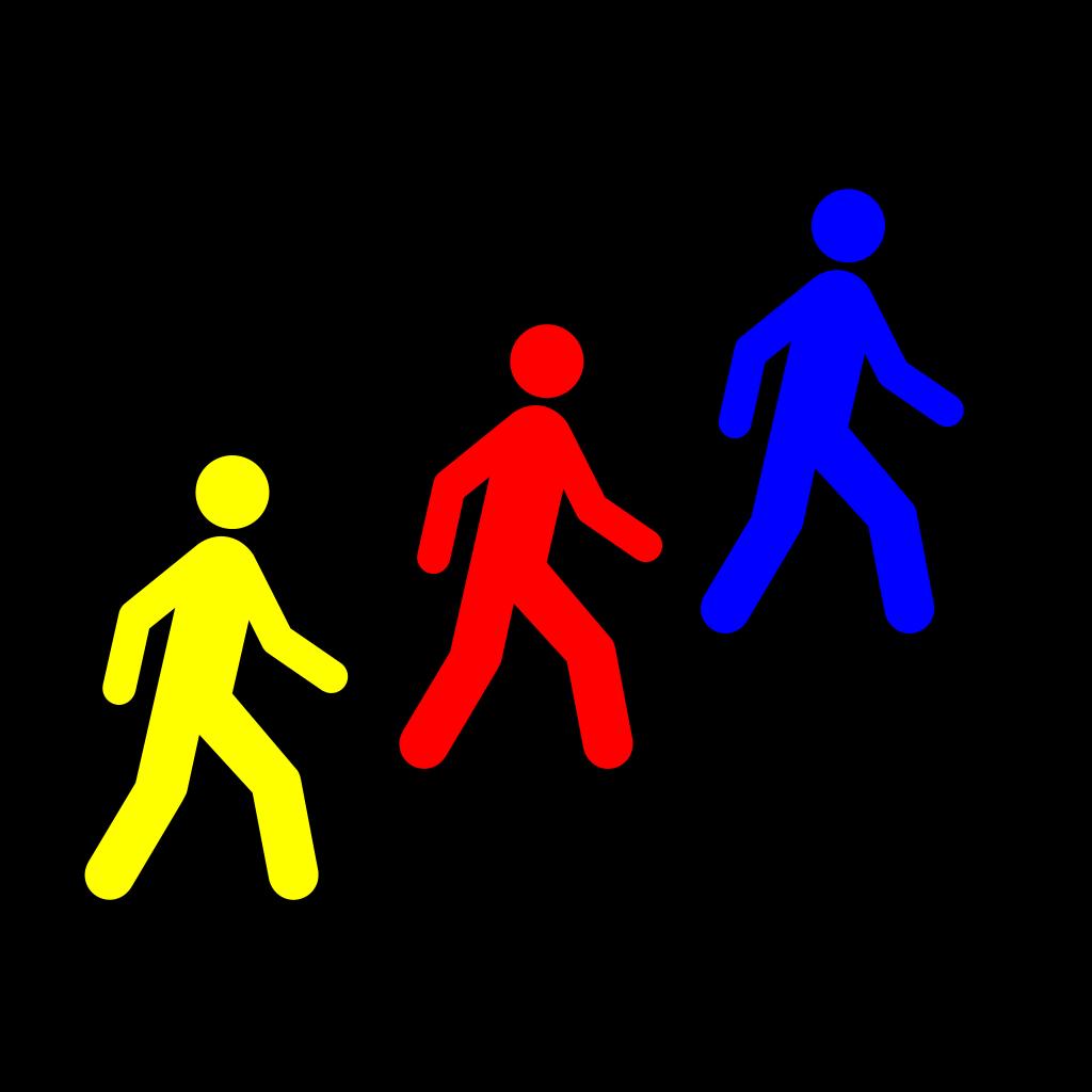 Walking Man Colors SVG Clip arts