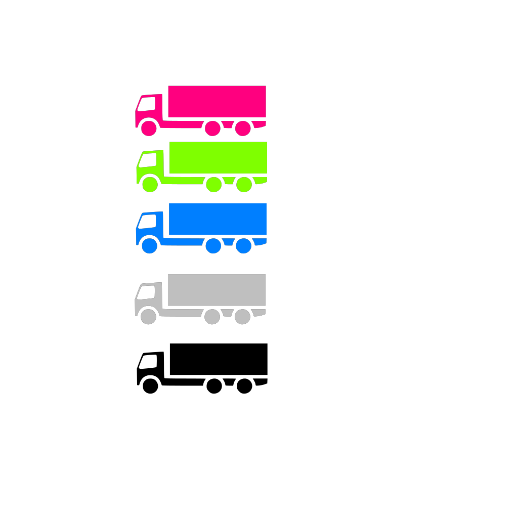 Coloured Trucks SVG Clip arts