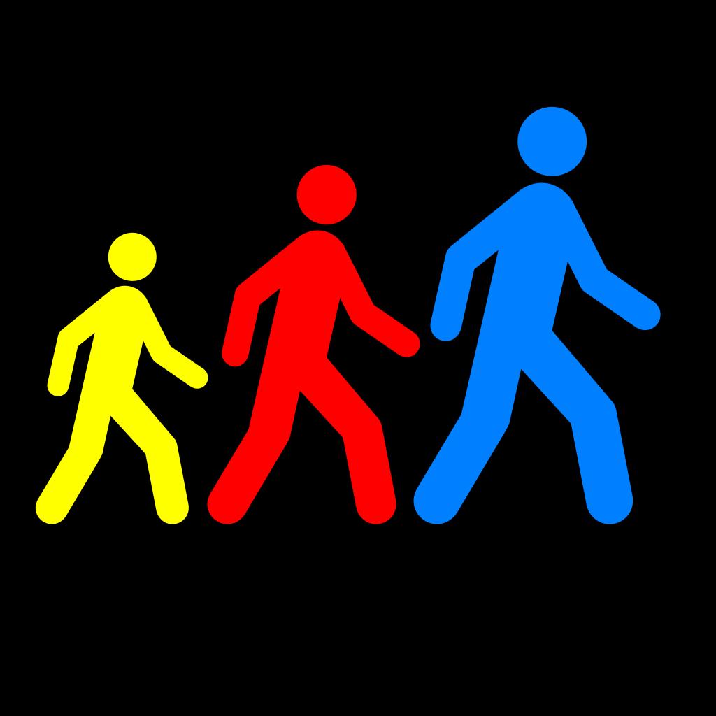 Walking Man Colors 1 SVG Clip arts