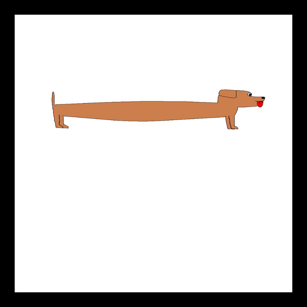 Long Sausage Dog SVG Clip arts