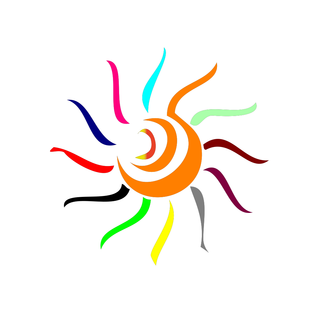 Colorful Sun PNG, SVG Clip art for Web - Download Clip Art