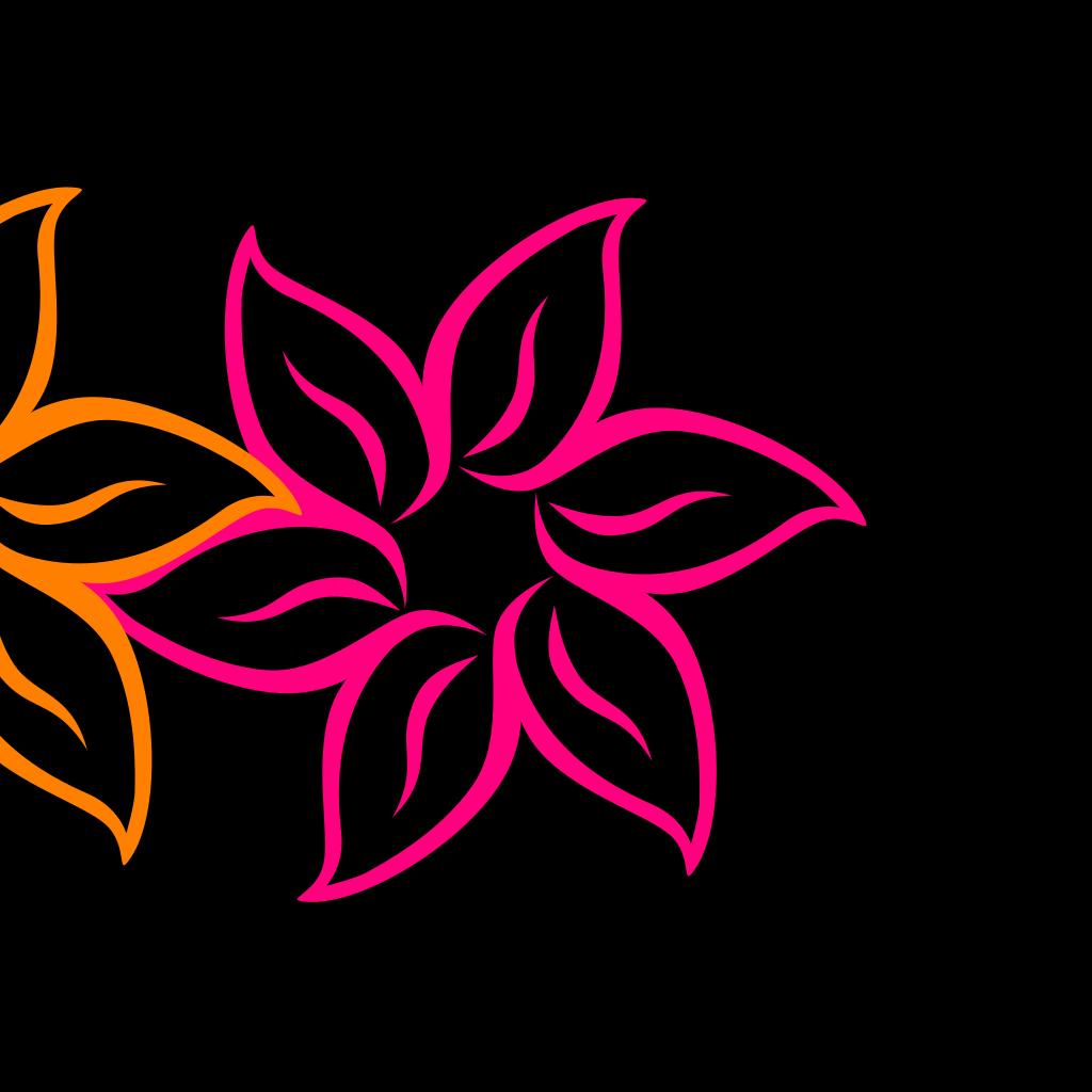 Shaded Rainbow Flower  SVG Clip arts