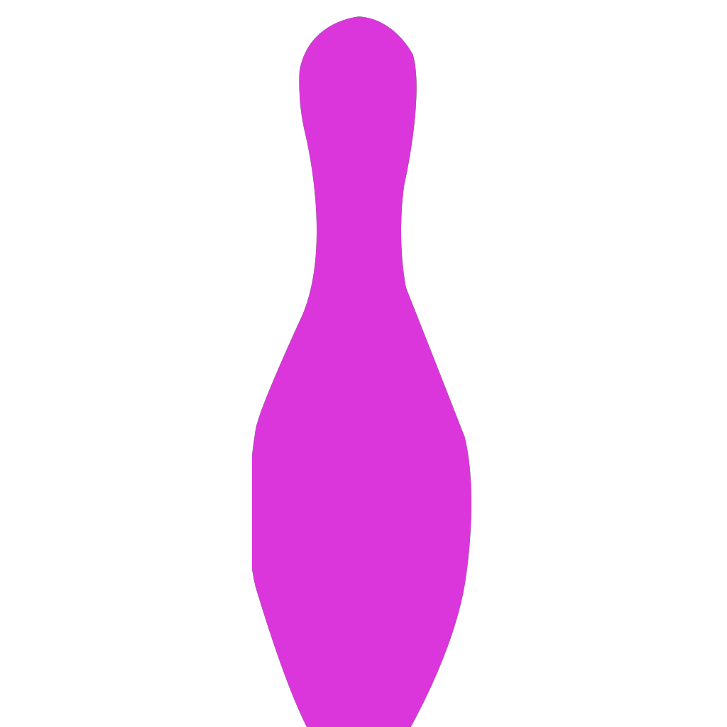 Bowling Pin Colored SVG Clip arts