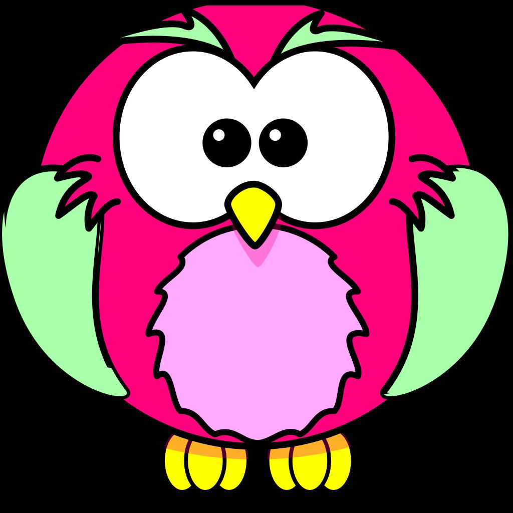 Pink Owl Olivia Birthday 3 SVG Clip arts