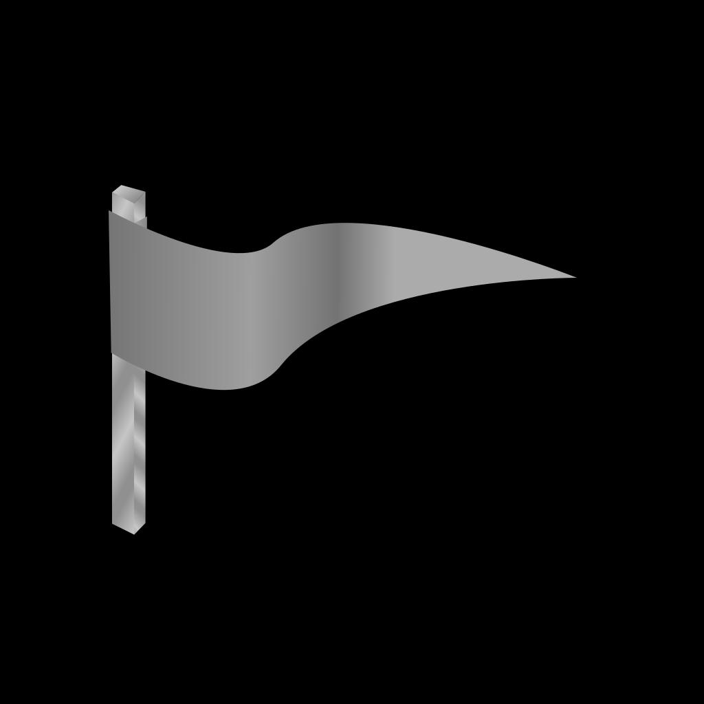 Waving Gray Flag SVG Clip arts