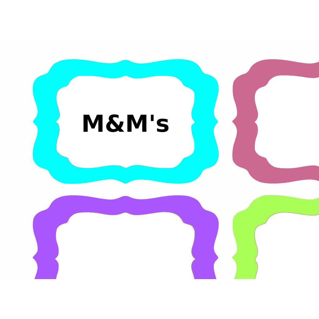 Colorful Tags SVG Clip arts