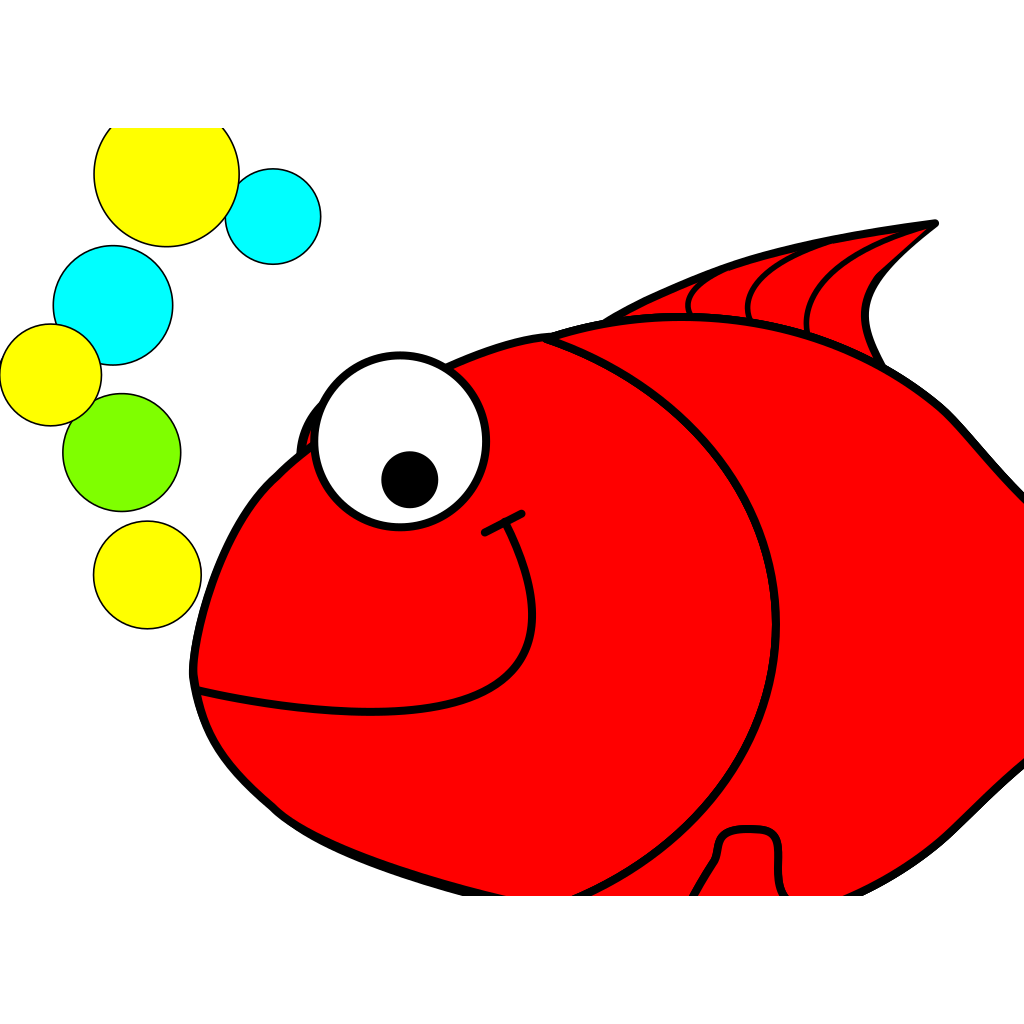Red Smiling Goldfish SVG Clip arts