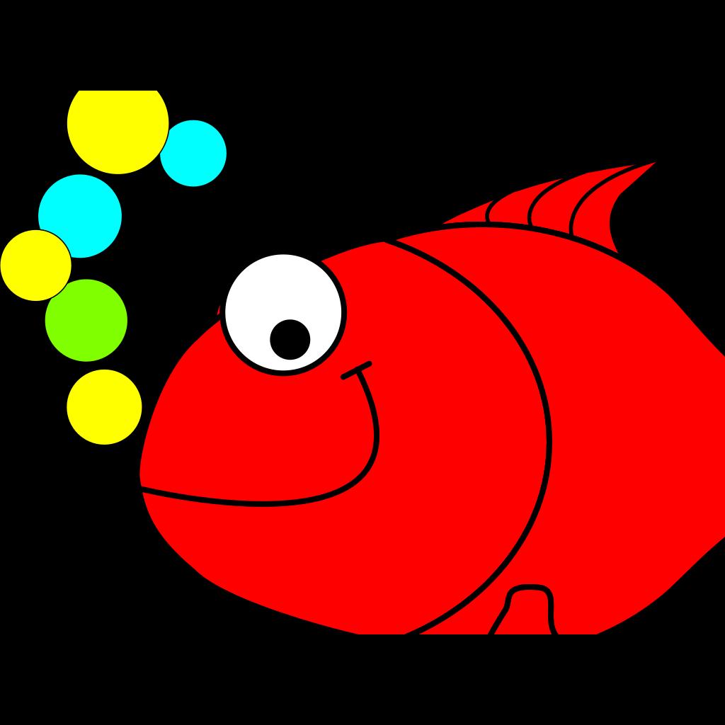 Red Smiling Goldfish SVG Clip arts