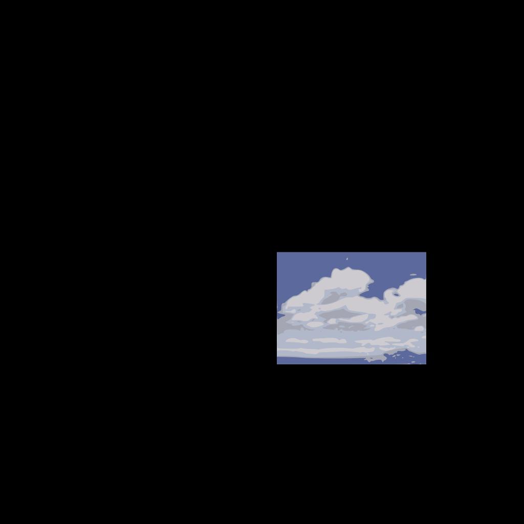 Clouds With Hidden Sun SVG Clip arts
