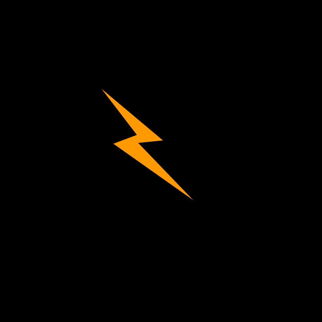 Orange Bolt SVG Clip arts