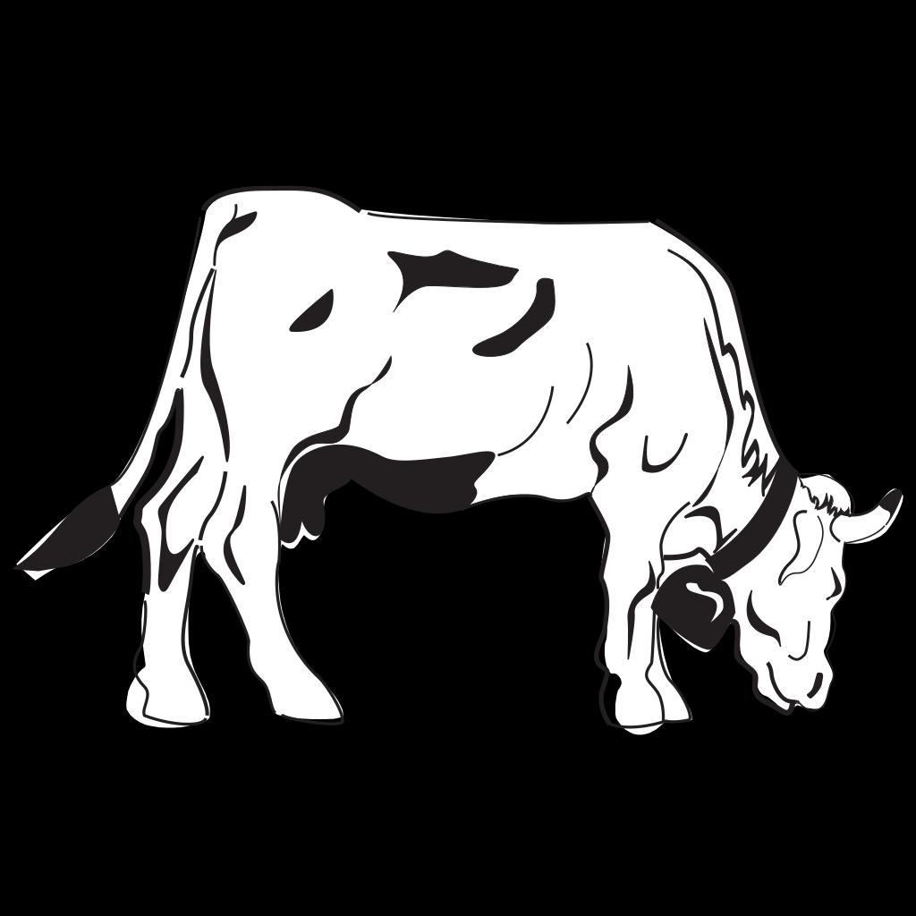 Cow Grazing SVG Clip arts