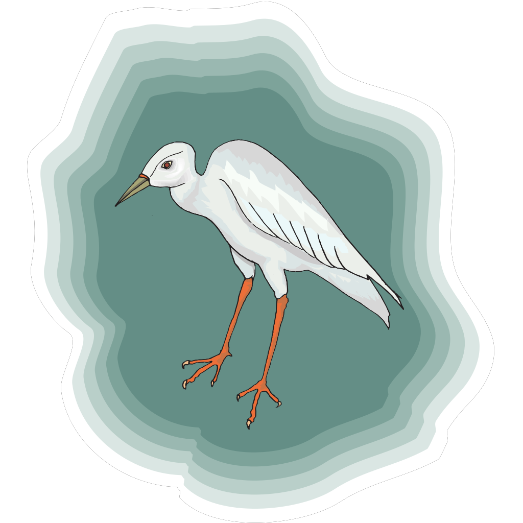 Heron With Green Background SVG Clip arts