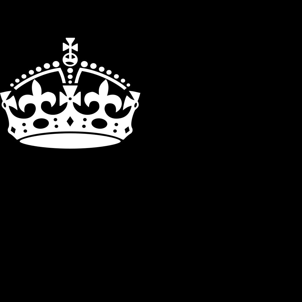 Keep Calm Crown SVG Clip arts