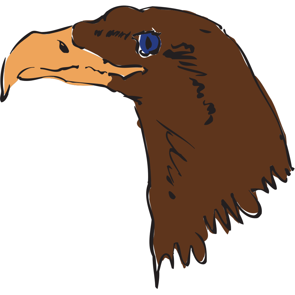 Brown Eagle Head Art SVG Clip arts