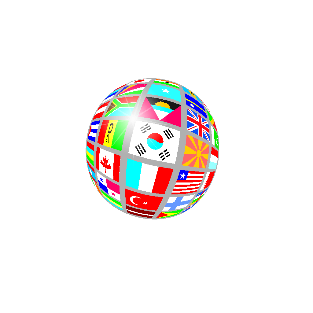 Sphere Flags SVG Clip arts