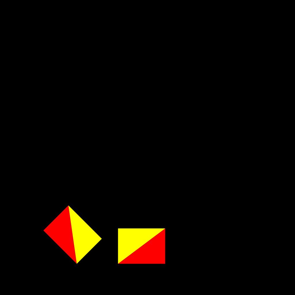 Naval Semaphore Flag A SVG Clip arts