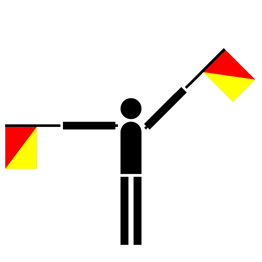 Naval Semaphore Flag Q SVG Clip arts