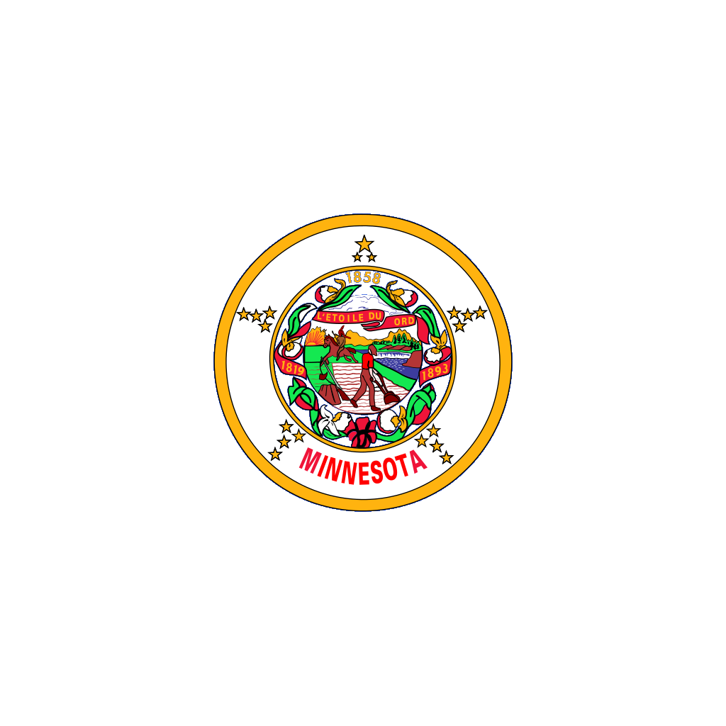 Us Minnesota Flag SVG Clip arts