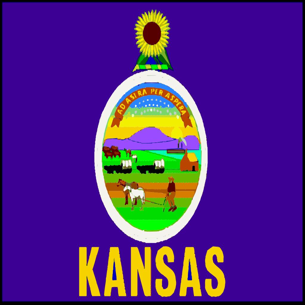 Flag Of Kansas SVG Clip arts