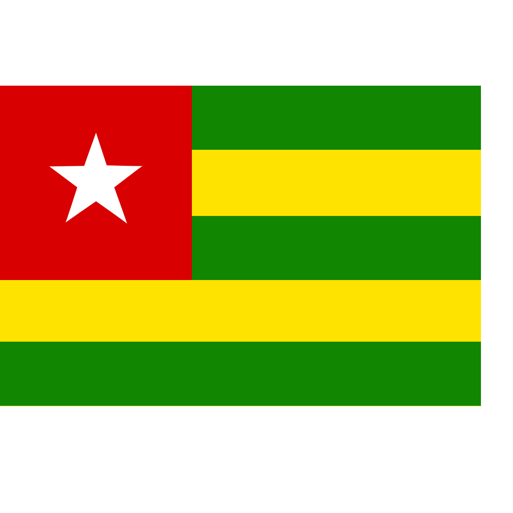 Togo Flag SVG Clip arts