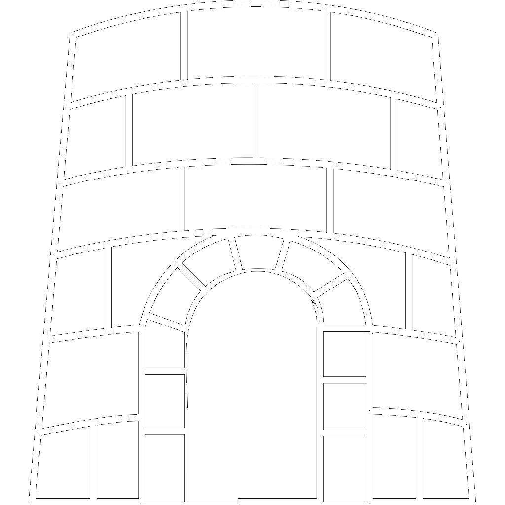 Castle Outline SVG Clip arts
