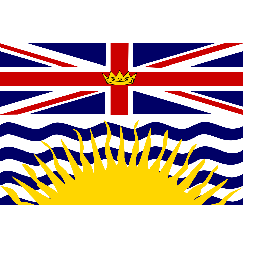 Flag Of British Columbia Canada SVG Clip arts