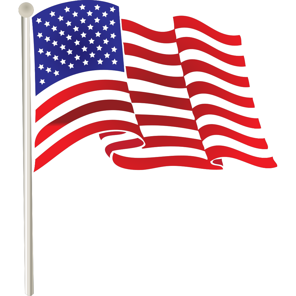 Usa Flag Badge SVG Clip arts