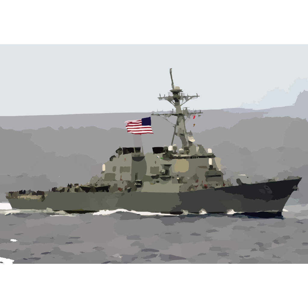 The Guided Missile Destroyer Uss Milius (ddg 69) Proudly Displays Her Large American Flag During A Practice Sea Power Demonstration For Uss Constellation SVG Clip arts