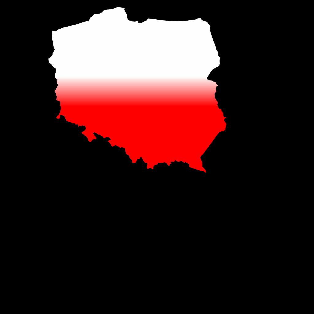 Polandcontourflag SVG Clip arts