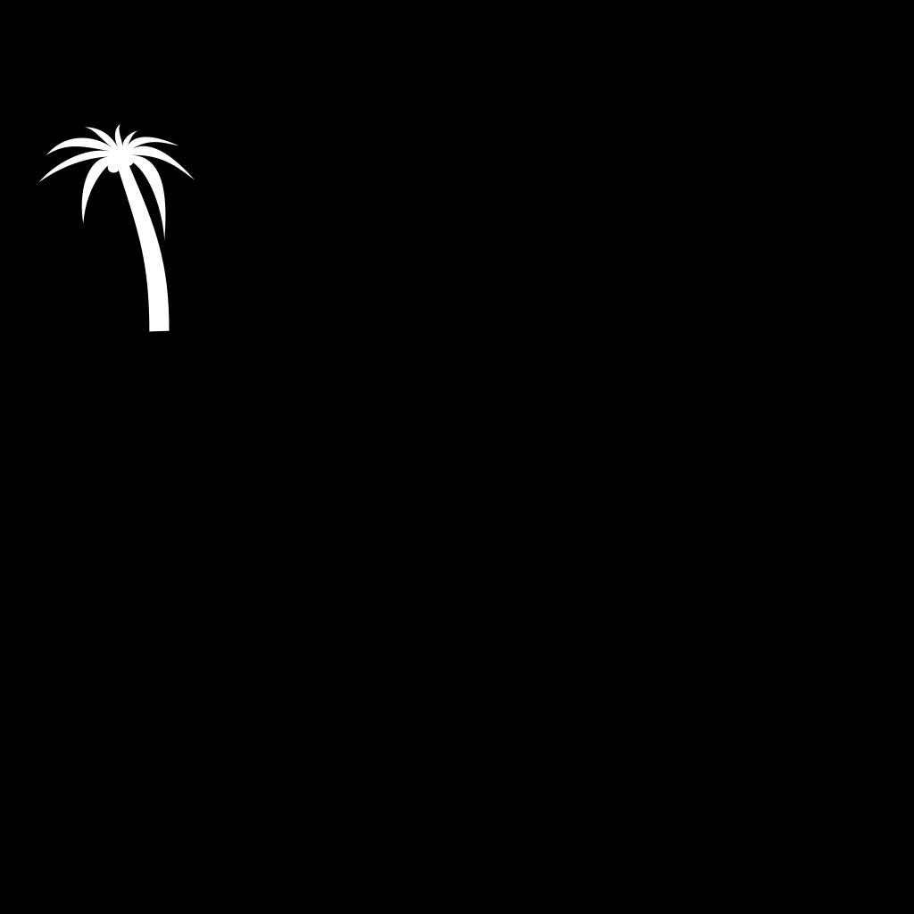 White Palmetto Moon SVG Clip arts
