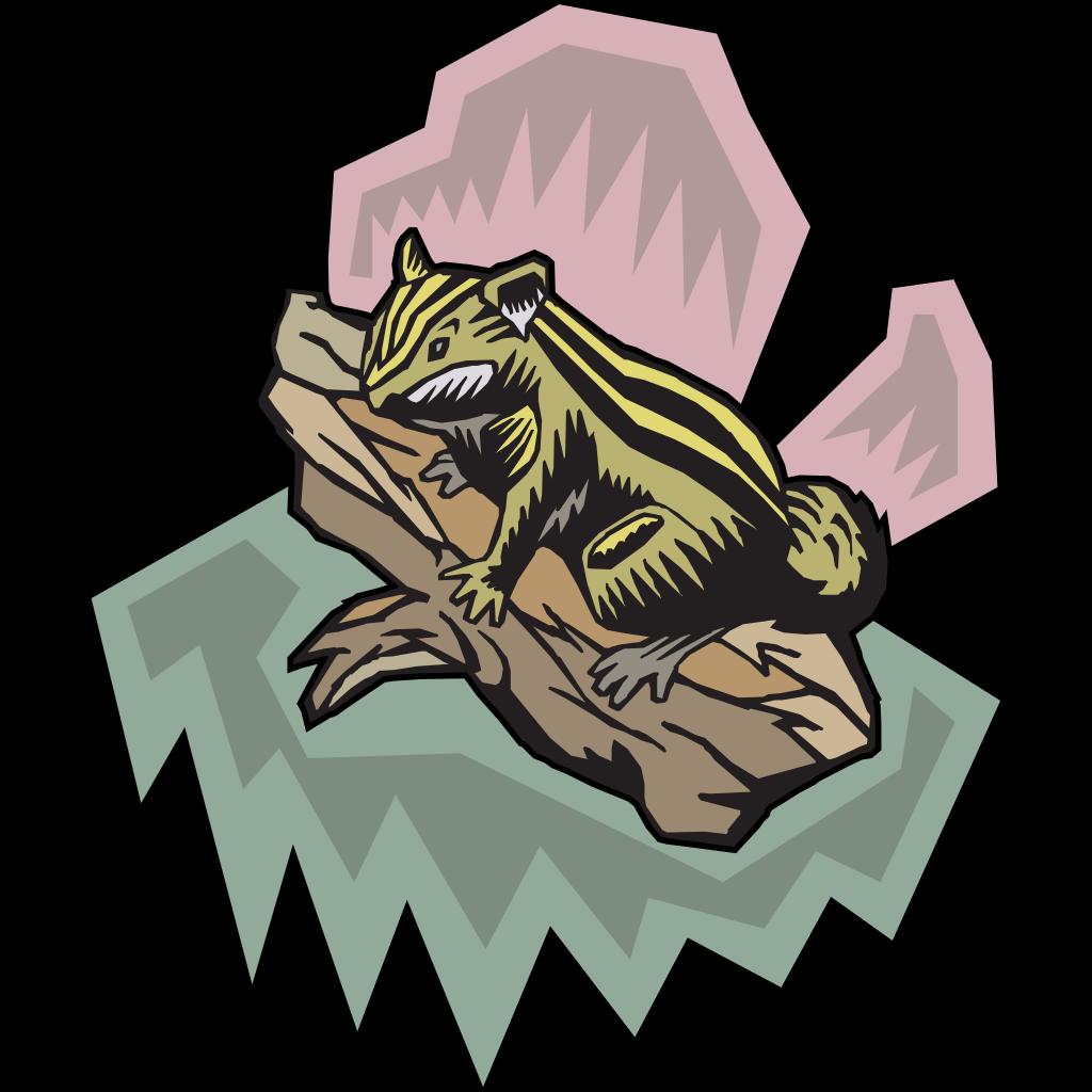 Stylized Chipmunk SVG Clip arts