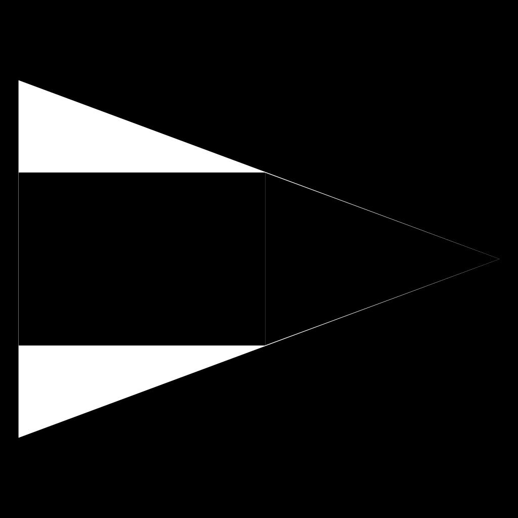 Black And White Signal Flag SVG Clip arts