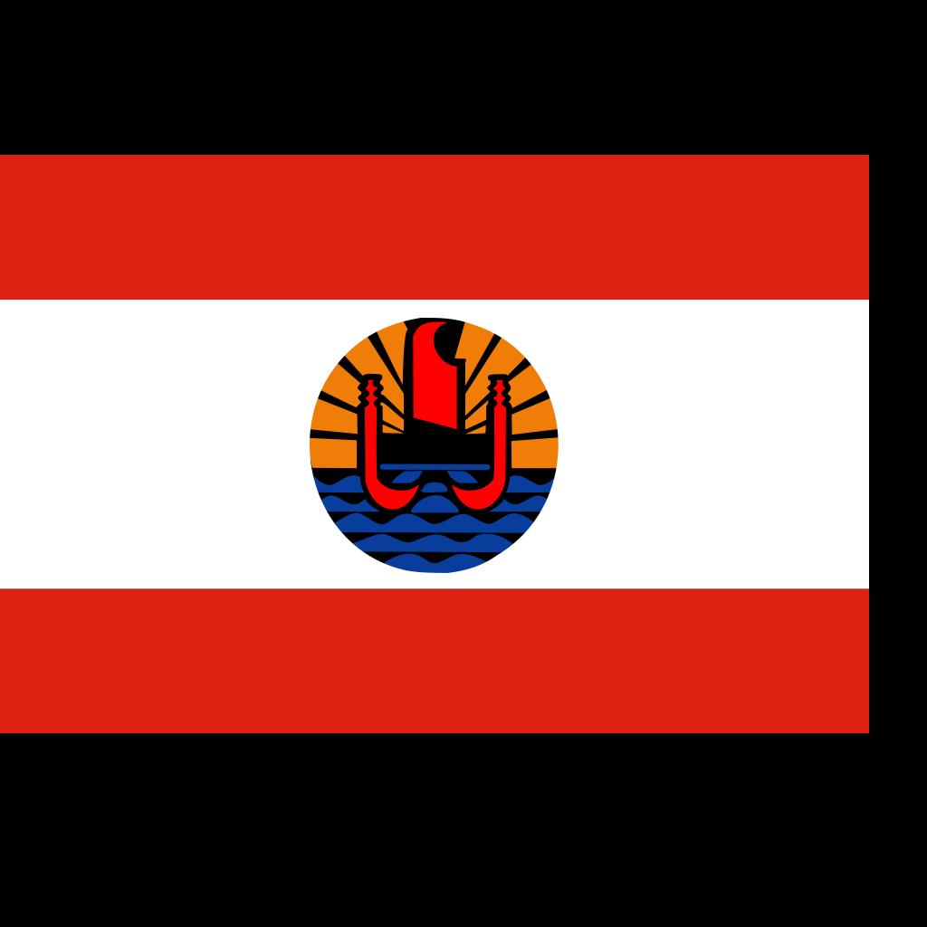 French Polynesia Flag SVG Clip arts