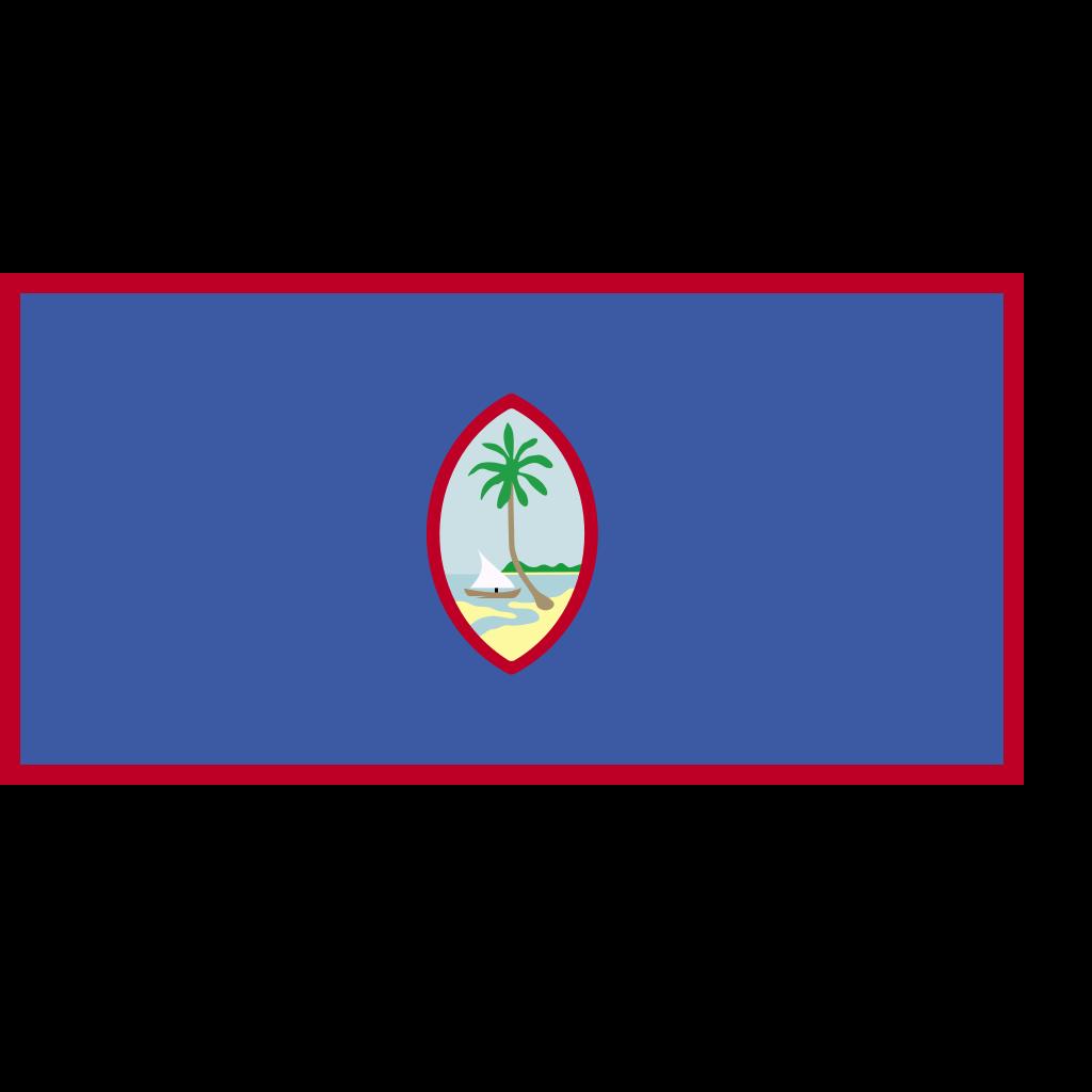 Guam Flag SVG Clip arts