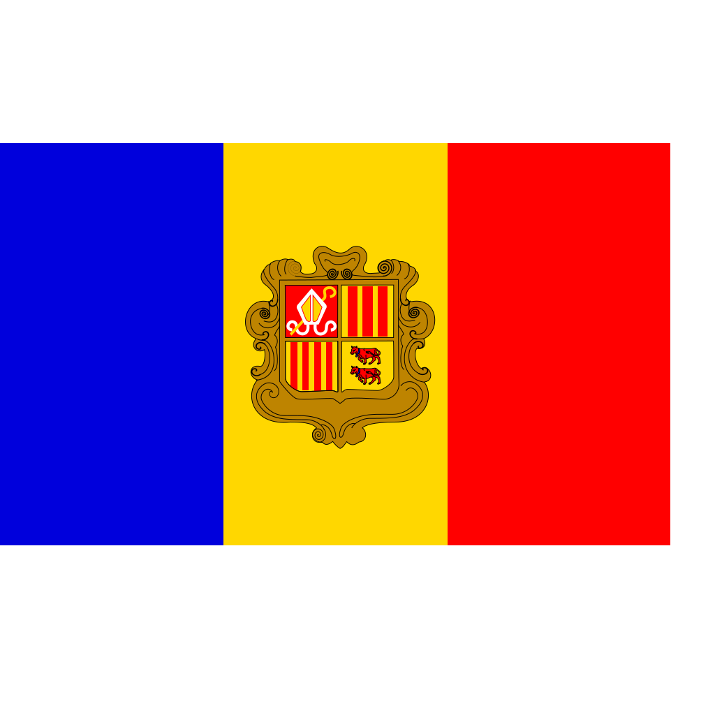 Andorra Flag SVG Clip arts