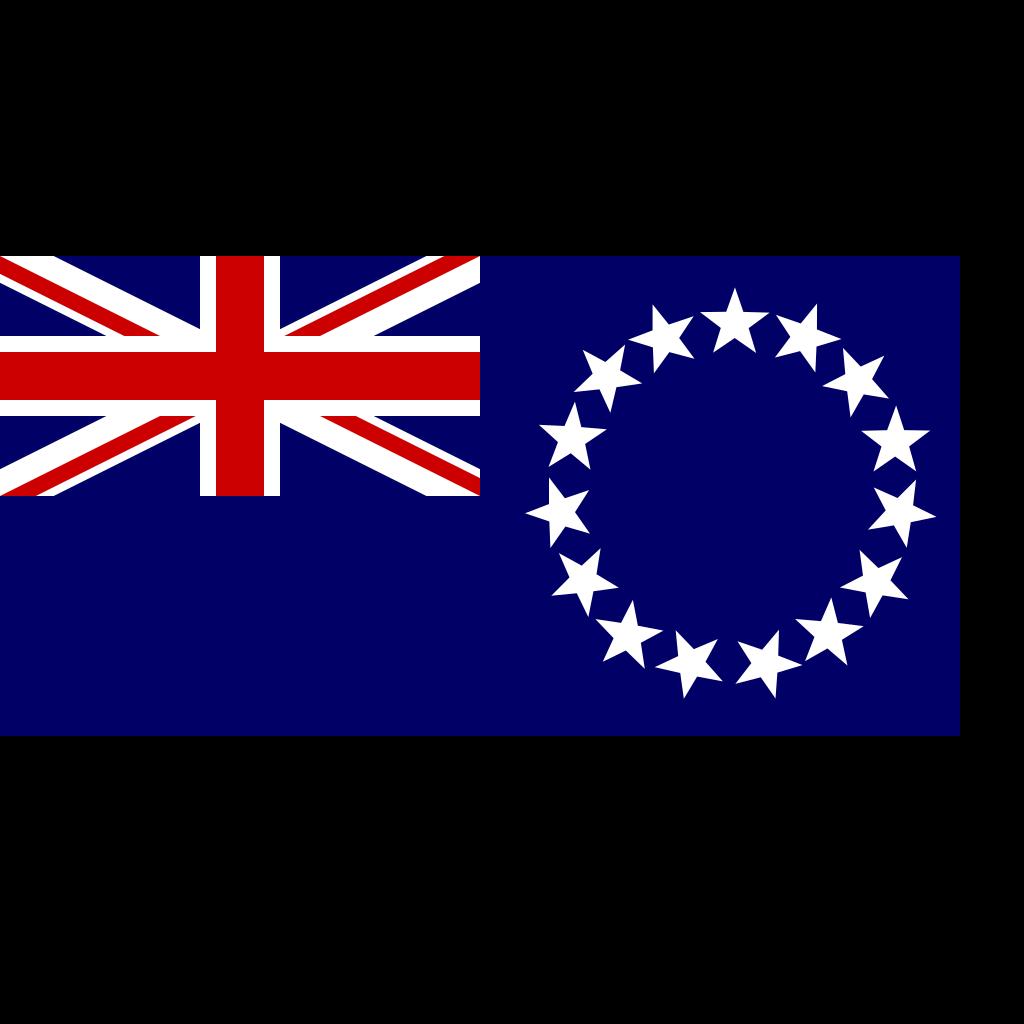 Cook Islands Flag SVG Clip arts