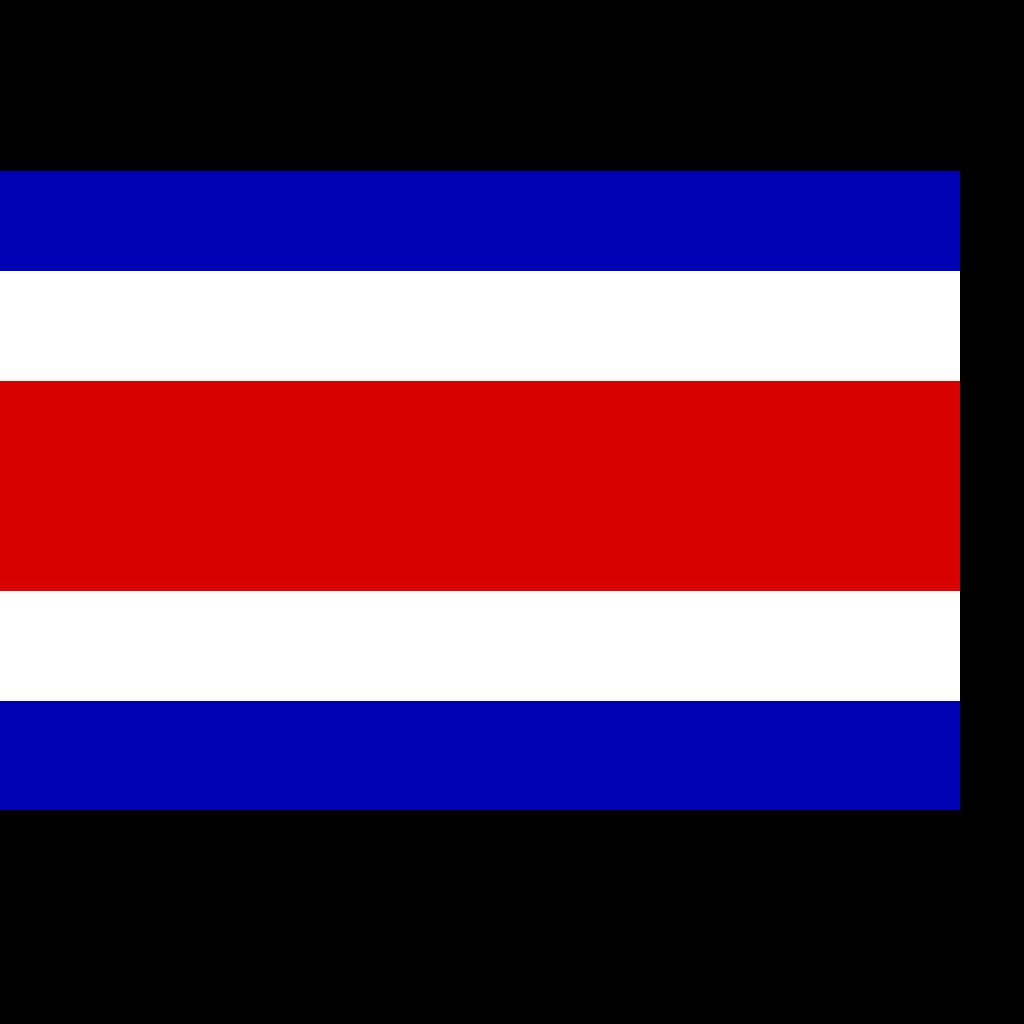 Incomplete Flag Of Costa Rica SVG Clip arts