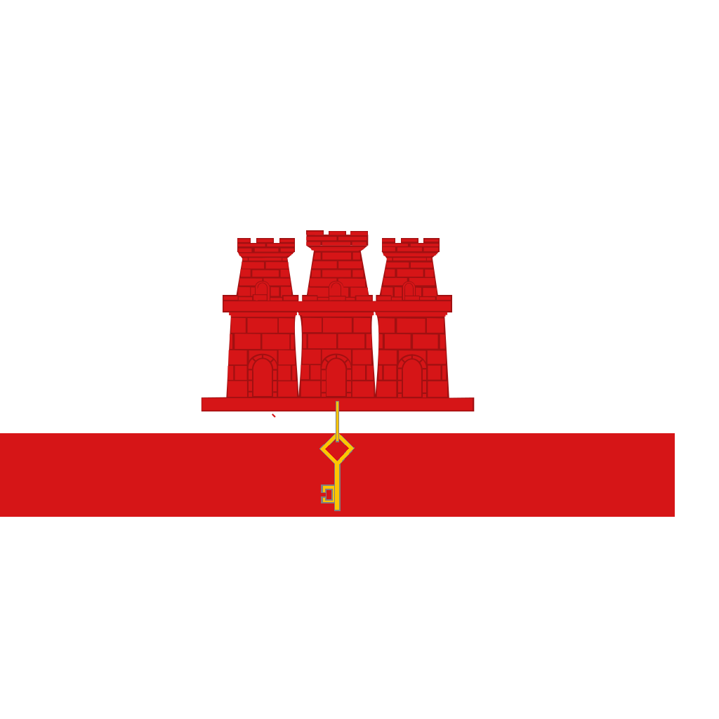 Flag Of Gibraltar SVG Clip arts