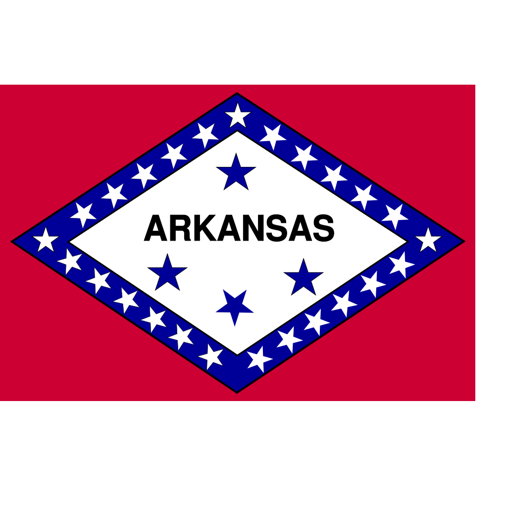 Flag Of Arkansas SVG Clip arts