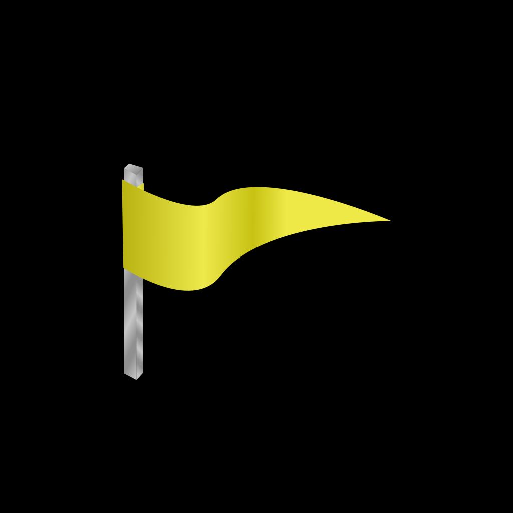 Waving Yellow Flag SVG Clip arts