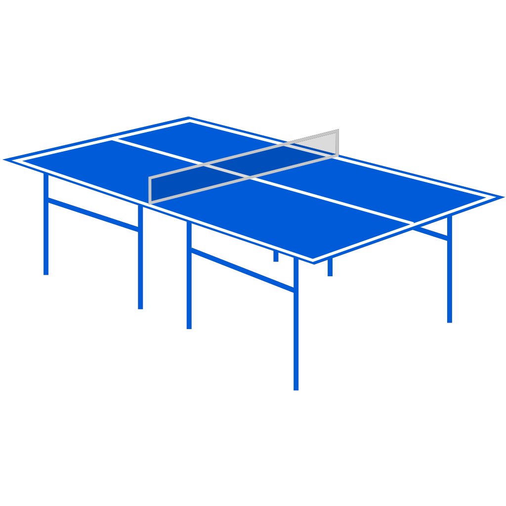 Table Tennis Table SVG Clip arts