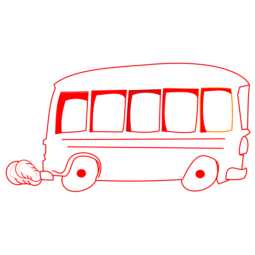 School Bus Vehicle SVG Clip arts