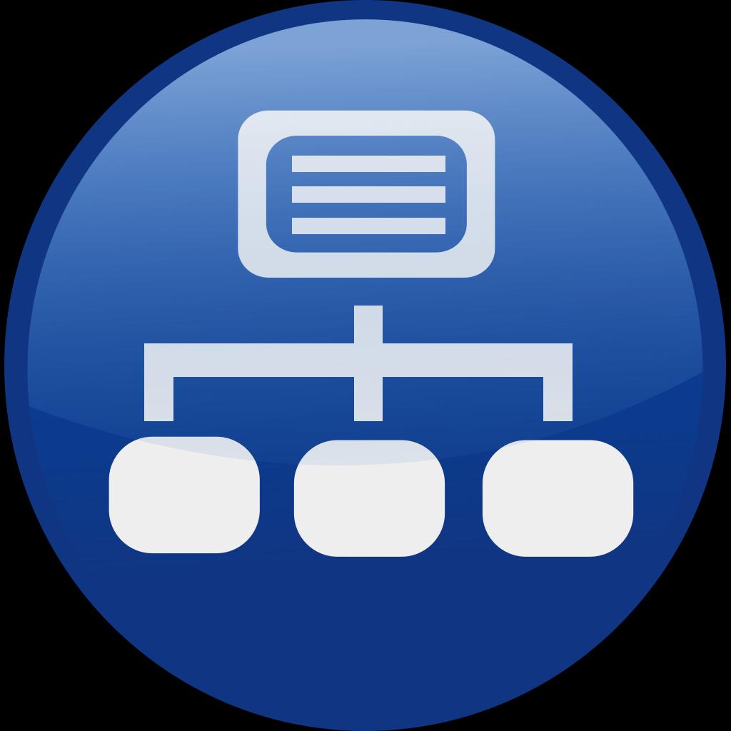 Blue Network Diagram SVG Clip arts
