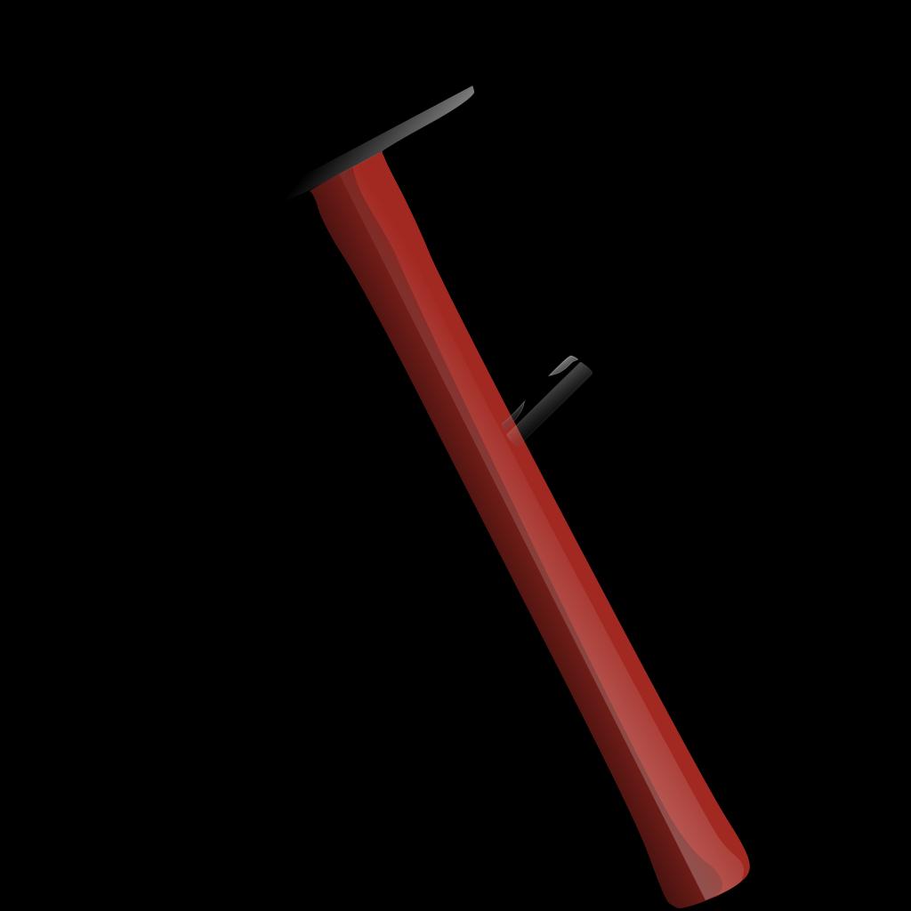 Red Sledgehammer SVG Clip arts