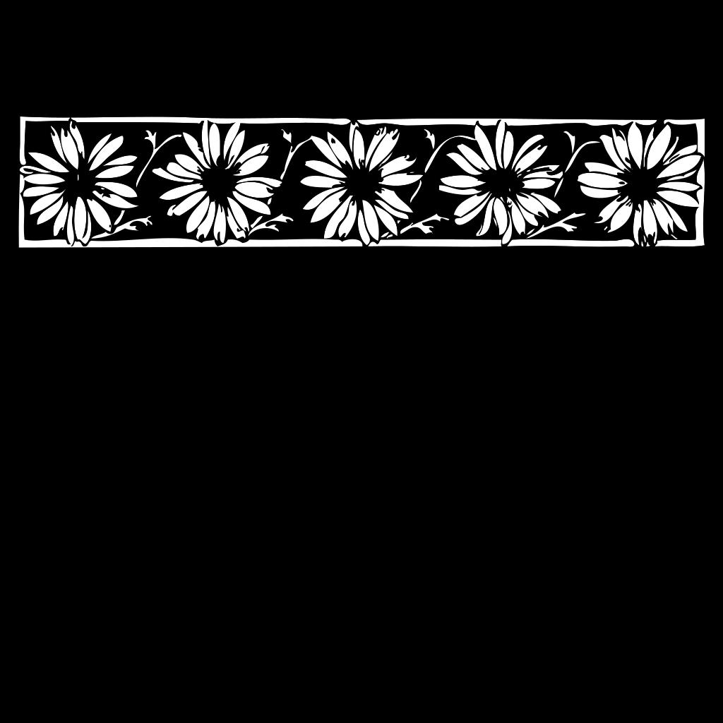 Daisy Border SVG Clip arts