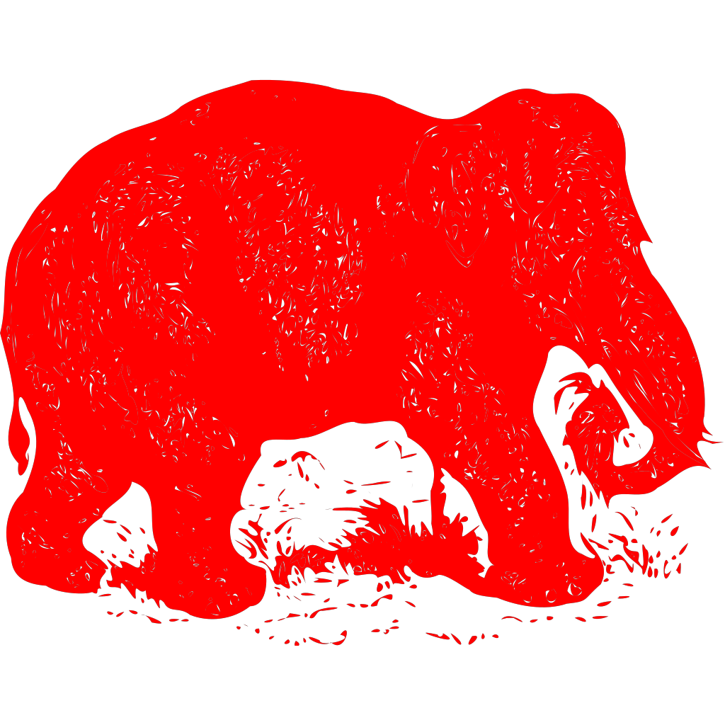 Elephant Drawing SVG Clip arts