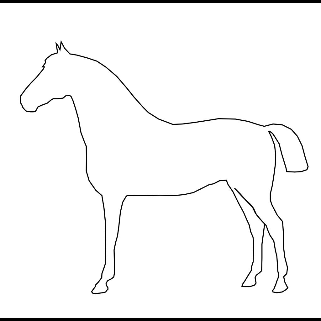 White Horse SVG Clip arts