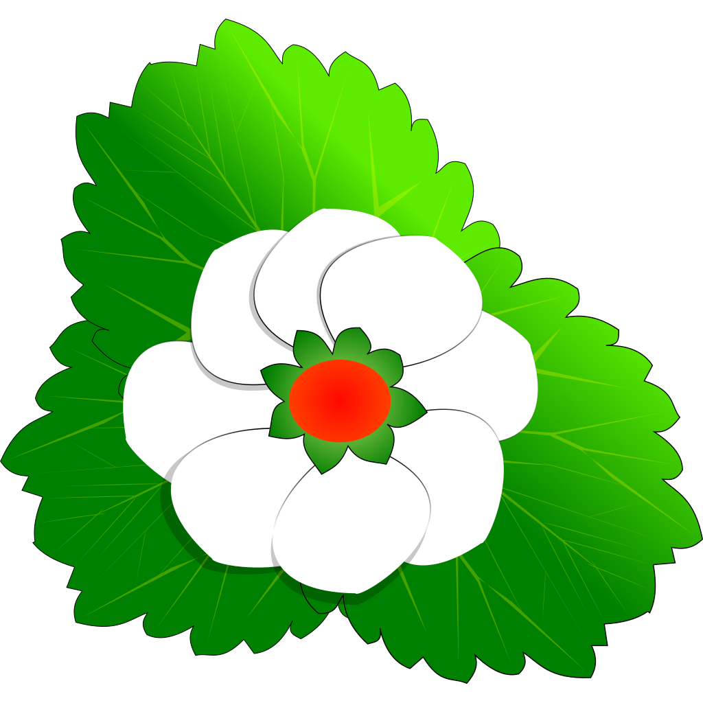 Strawberry Flower SVG Clip arts