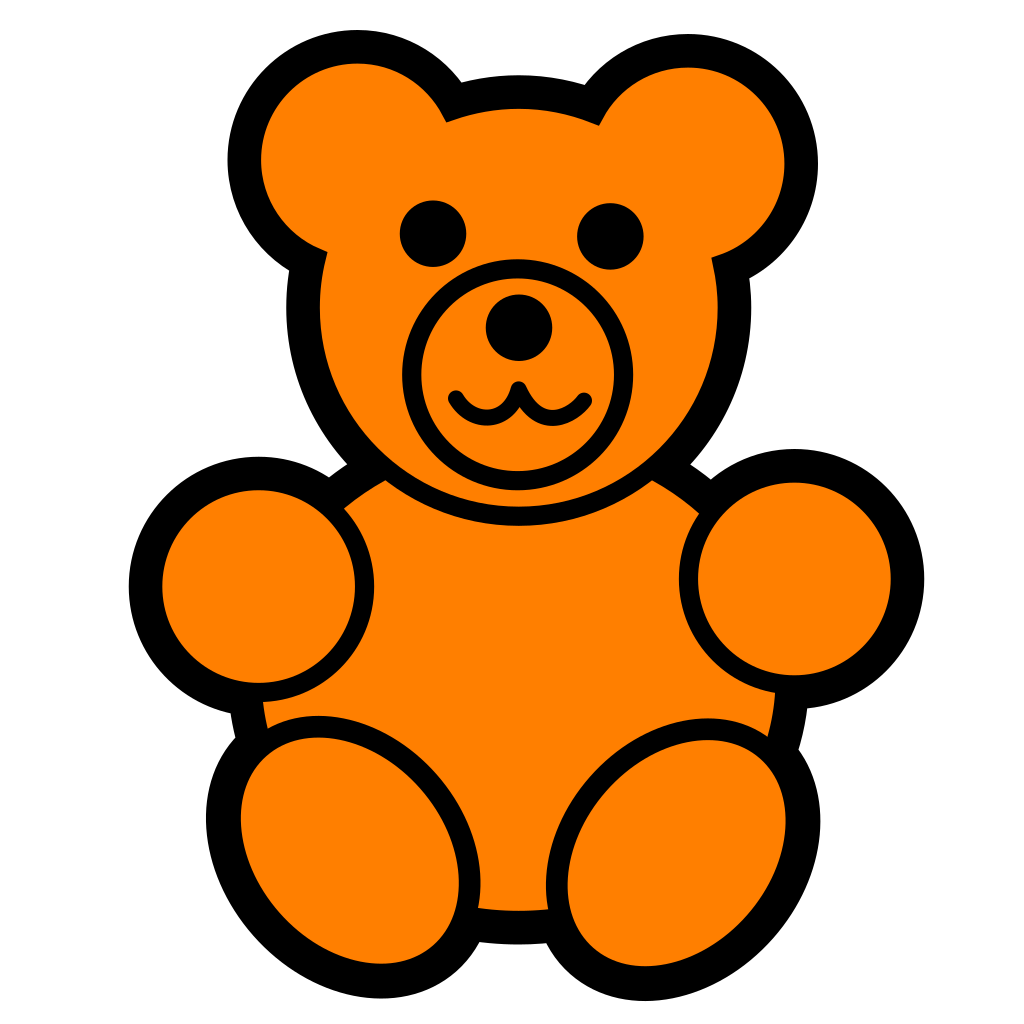 Young Bear SVG Clip arts