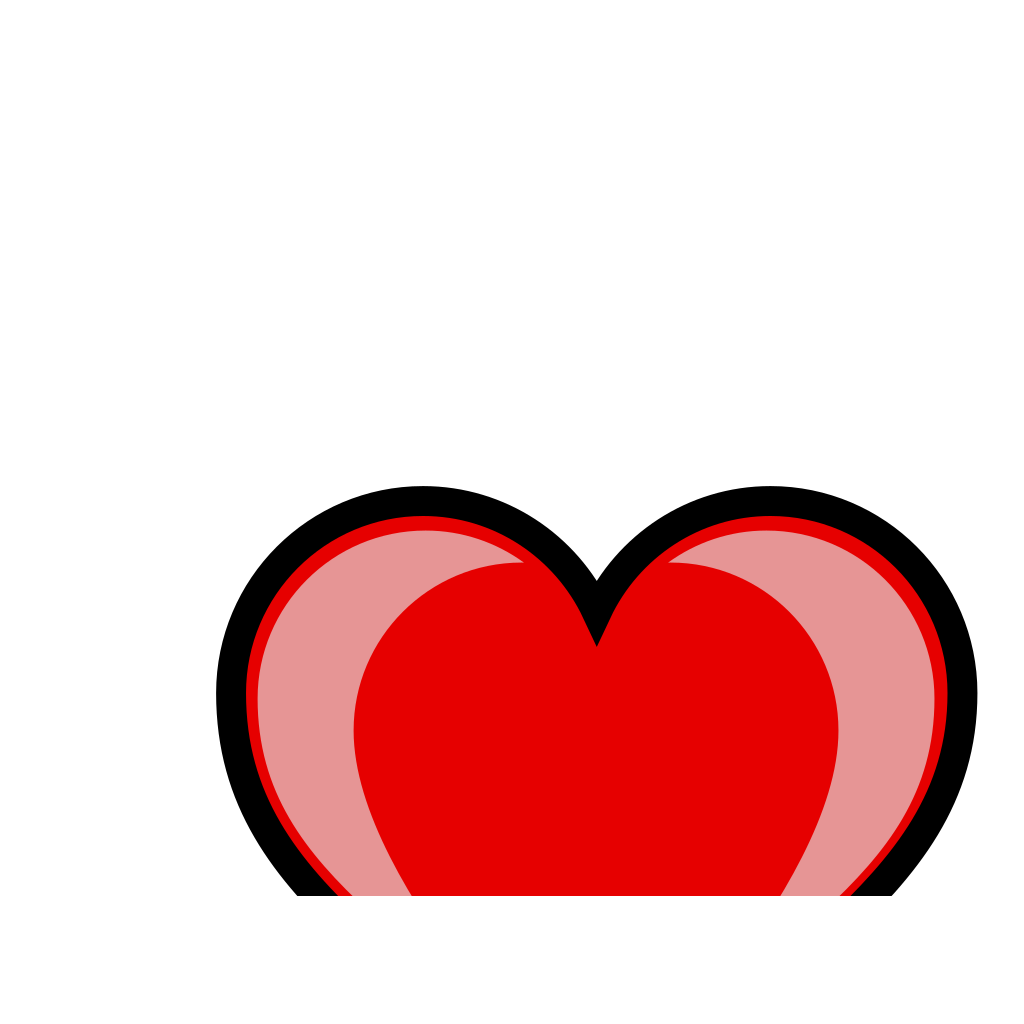 Red Heart 3 SVG Clip arts